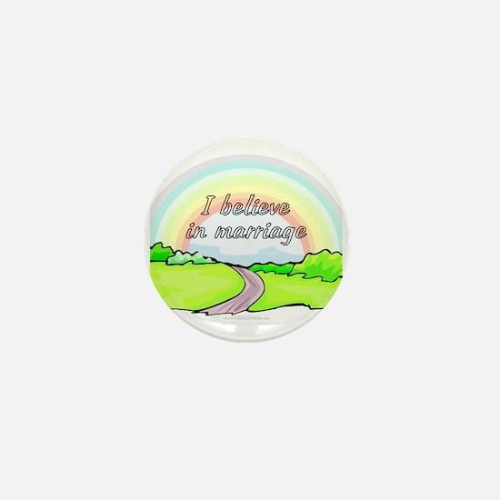 "I believe in marriage (1"" mini button)"