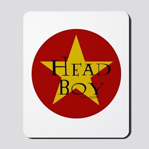Head Boy - Star design in Red and Gold Mousepad