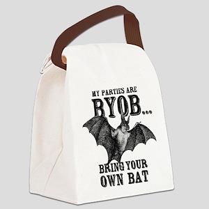 BYOB Bring Your Own Bat Canvas Lunch Bag
