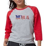 MMA USA Womens Baseball Tee