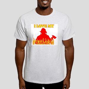 FIREMAN I LOVE FIREMAN I LOVE Ash Grey T-Shirt