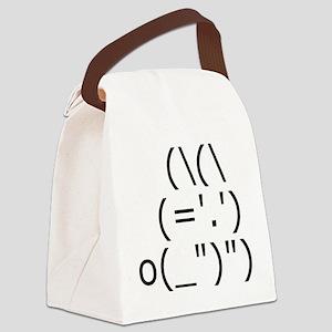 ASCII Bunny Rabbit Canvas Lunch Bag