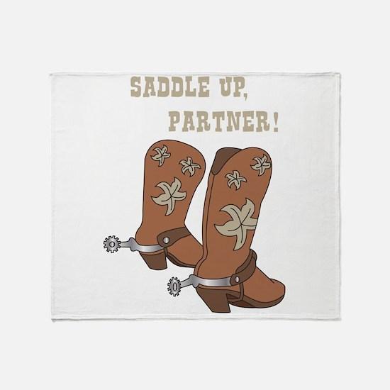 Saddle Up Partner Throw Blanket