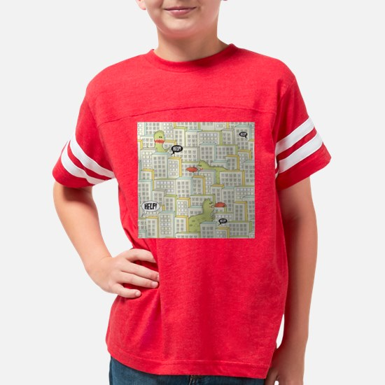 Monsters Attack City Youth Football Shirt