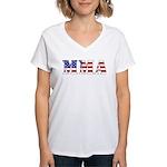 MMA USA Women's V-Neck T-Shirt