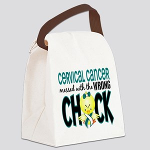 Cervical Cancer Messed With Wrong Chick Canvas Lun
