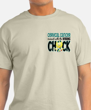 Cervical Cancer Messed With Wrong Chick T-Shirt