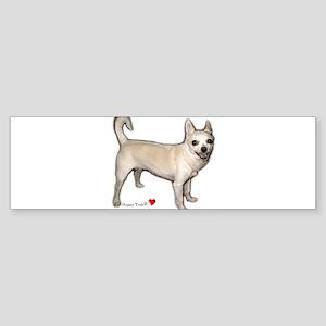 Cute Heart Chihuahua Sticker (Bumper)