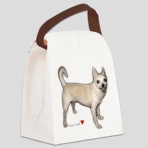 Cute Heart Chihuahua Canvas Lunch Bag