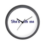She's With Me Wall Clock