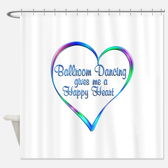 Ballroom Happy Heart Shower Curtain