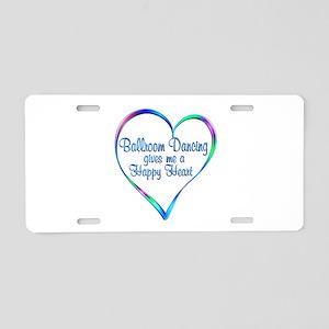 Ballroom Happy Heart Aluminum License Plate