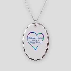 Ballroom Happy Heart Necklace Oval Charm