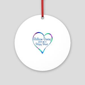 Ballroom Happy Heart Round Ornament