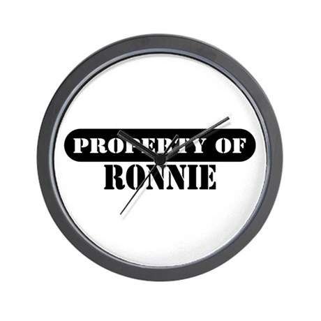 Property of Ronnie Wall Clock