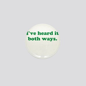 I've heard it both ways - Green Mini Button