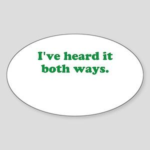 I've heard it both ways - Green Sticker