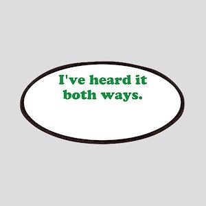 I've heard it both ways - Green Patch