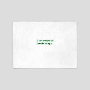 I've heard it both ways - Green 5'x7'Area Rug