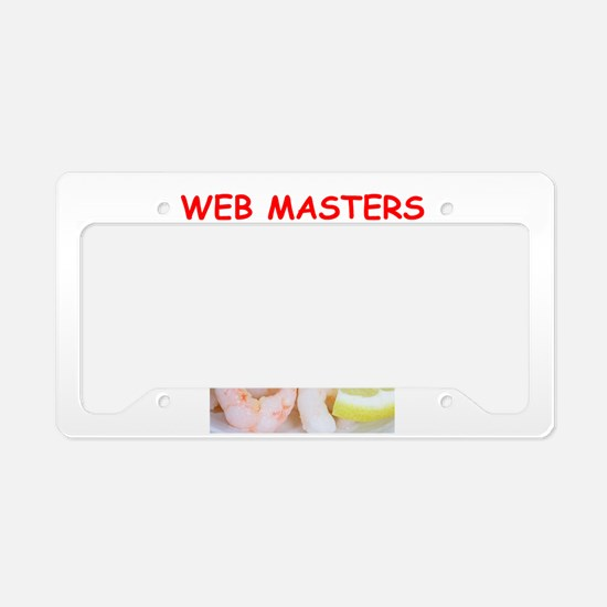 web master License Plate Holder