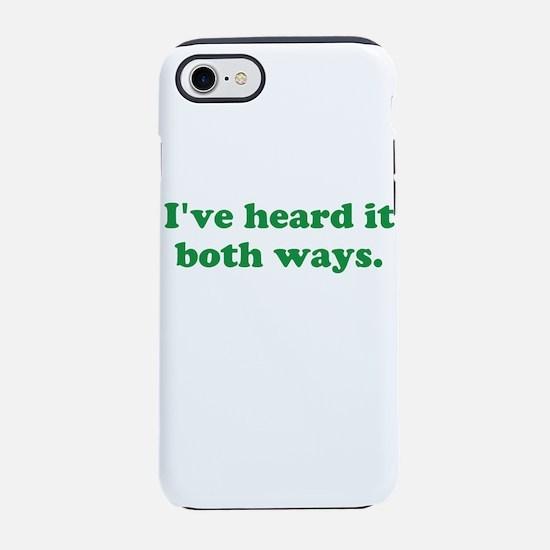 I've heard it both ways - Green iPhone 7 Tough