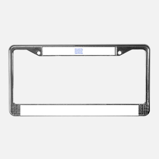 success-bod-blue License Plate Frame