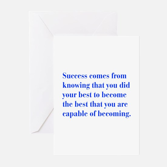 success-bod-blue Greeting Cards