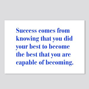 success-bod-blue Postcards (Package of 8)