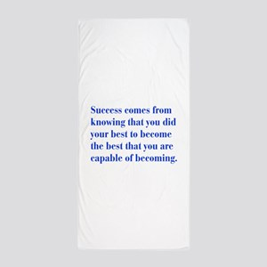 success-bod-blue Beach Towel