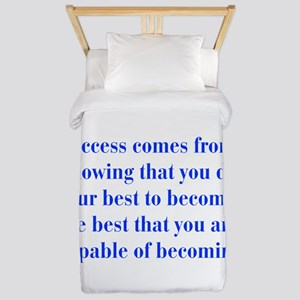 success-bod-blue Twin Duvet