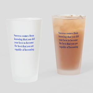 success-bod-blue Drinking Glass