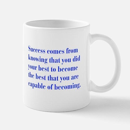 success-bod-blue Mugs