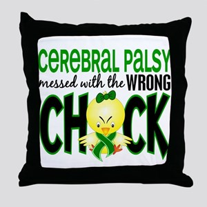 Cerebral Palsy Messed With Wrong Chick Throw Pillo