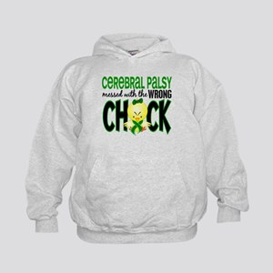Cerebral Palsy Messed With Wrong Chick Kids Hoodie