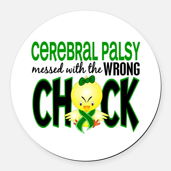 Cerebral Palsy Messed With Wrong Chick Round Car M