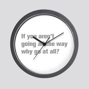 going-all-the-way-akz-gray Wall Clock