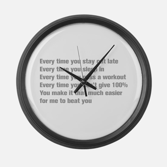every-time-you-stay-akz-gray Large Wall Clock
