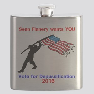 Vote Flanery Flask