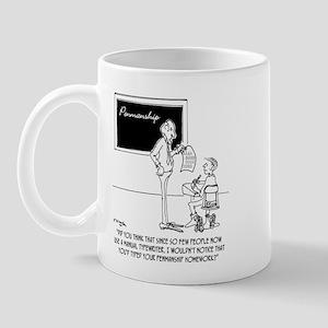 Typing Your Penmanship Homework Mug