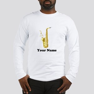 Saxophone Personalized Long Sleeve T-Shirt