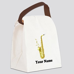 Saxophone Personalized Canvas Lunch Bag