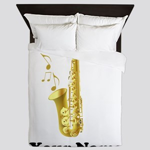 Saxophone Personalized Queen Duvet