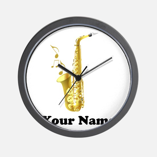 Saxophone Personalized Wall Clock