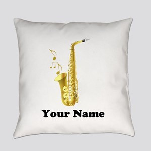 Saxophone Personalized Everyday Pillow