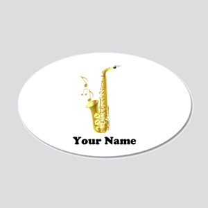 Saxophone Personalized 20x12 Oval Wall Decal