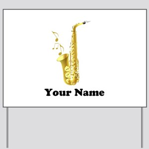 Saxophone Personalized Yard Sign