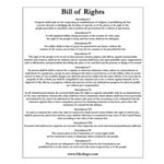 Bill of Rights Text Small Poster
