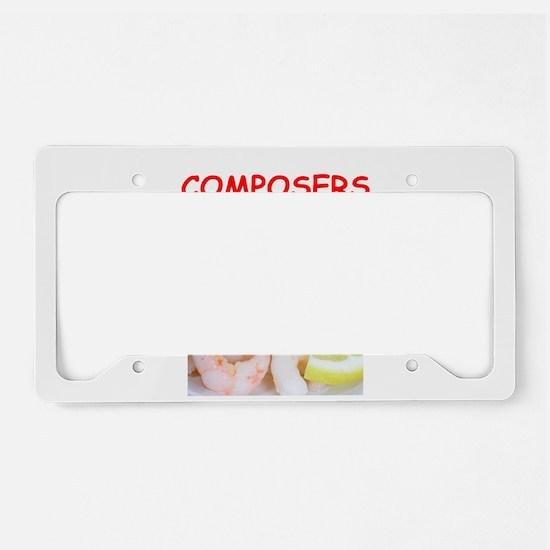 composer License Plate Holder
