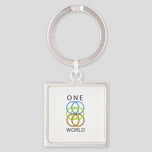 One World Square Keychain