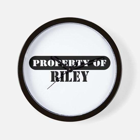 Property of Riley Wall Clock